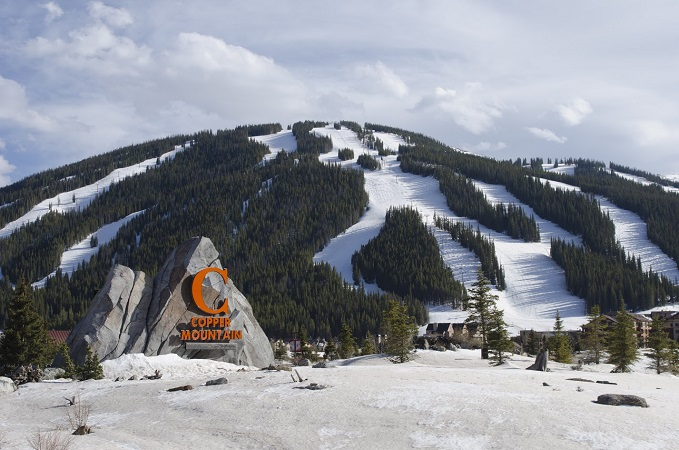 Copper Mountain ski resort and logo