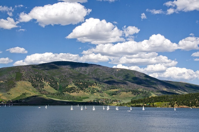 sailboats on lake dillon in summer